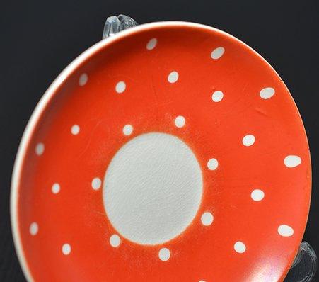 ゲフレ ウプサラエクビー アマニタ レッド コーヒーカップ&ソーサー Gefle Upsala Ekeby Amanitaの写真No.6