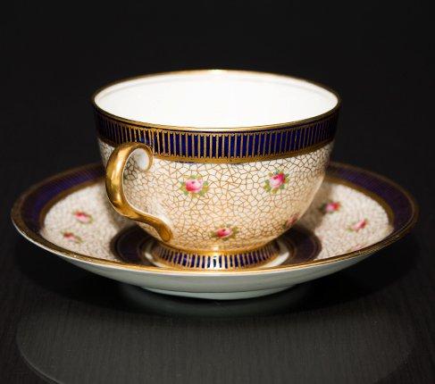 エインズレイ 1940-1960年代 ピンクローズ コーヒーカップ&ソーサー Aynsleyの写真No.4