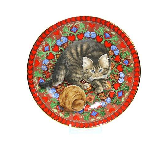 エインズレイ/Aynsley Meet My Kittens 2月 ラスキン/Ruskin キャットプレートの写真