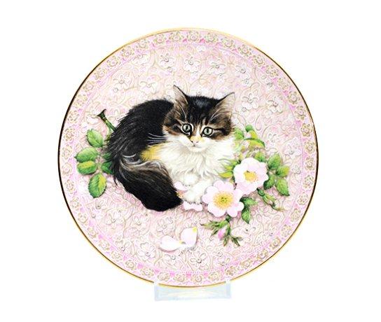 エインズレイ/Aynsley Meet My Kittens 6月 アグネッタ/Agneatha キャットプレートの写真