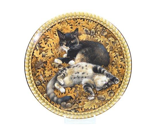 Aynsley エインズレイ キャットプレート11月 Meet My Kittens オクトパシーとモトリー 猫の写真