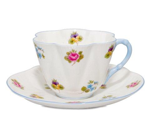 【送料無料】シェリー バラ・パンジー・勿忘草/Rose Pansy Forget-me-not コーヒーカップ&ソーサー ディンティーの写真
