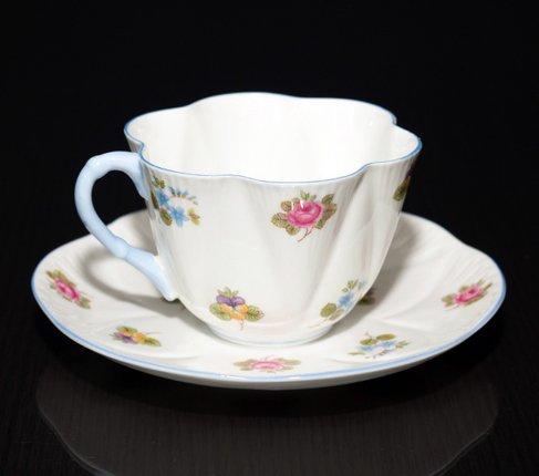 【送料無料】シェリー バラ・パンジー・勿忘草/Rose Pansy Forget-me-not コーヒーカップ&ソーサー ディンティーの写真No.3
