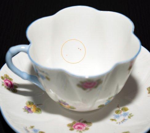 【送料無料】シェリー バラ・パンジー・勿忘草/Rose Pansy Forget-me-not コーヒーカップ&ソーサー ディンティーの写真No.4