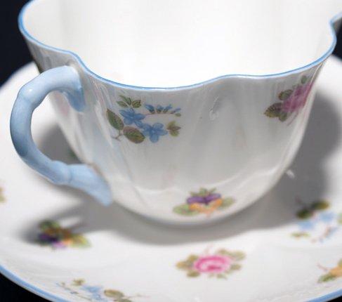 【送料無料】シェリー バラ・パンジー・勿忘草/Rose Pansy Forget-me-not コーヒーカップ&ソーサー ディンティーの写真No.5