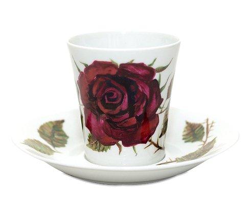 アラビア/ARABIA ヴァルチラ/WARTSILA 赤い薔薇 コーヒーカップ&ソーサー の写真