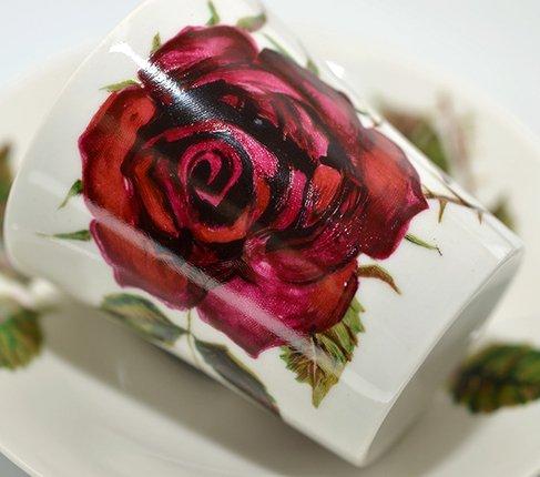 アラビア/ARABIA ヴァルチラ/WARTSILA 赤い薔薇 コーヒーカップ&ソーサー の写真No.4