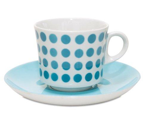 アラビア/ARABIA ステンシル/Stencil ポルカドット/Polca dot スカイブルー/sky blue コーヒーカップ&ソーサー の写真
