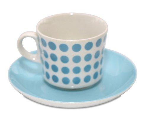 アラビア/ARABIA ステンシル/Stencil ポルカドット/Polca dot スカイブルー/sky blue コーヒーカップ&ソーサー の写真No.2