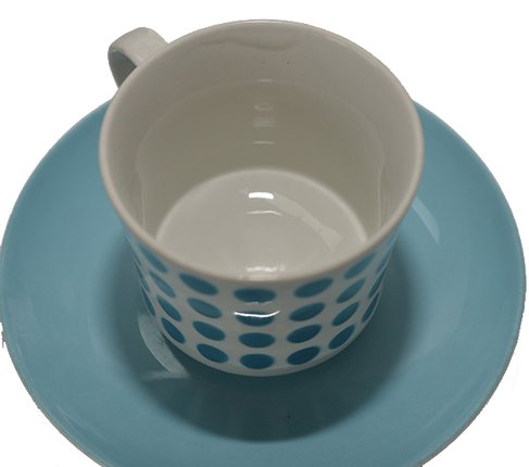 アラビア/ARABIA ステンシル/Stencil ポルカドット/Polca dot スカイブルー/sky blue コーヒーカップ&ソーサー の写真No.4