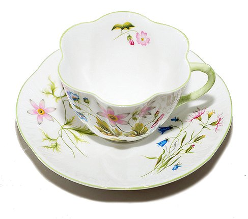 【送料無料】シェリー ワイルドアネモネ コーヒーカップ&ソーサー ディンティー No.13977 の写真No.2