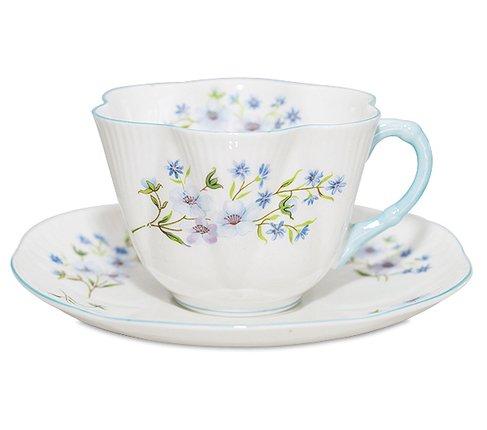 シェリー ブルーロック コーヒーカップ&ソーサー ディンティー No.13591 Blue Rockの写真