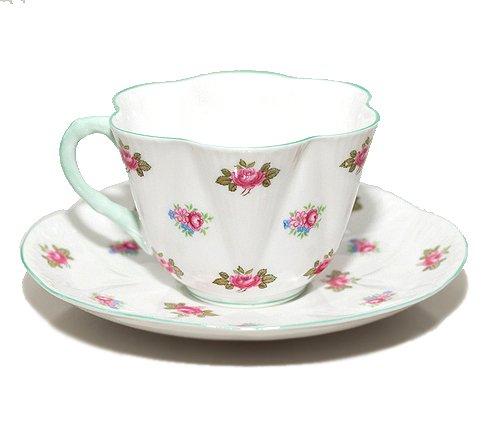 【送料無料】シェリー ローズバッド コーヒーカップ&ソーサー ディンティー No.13426 お花のような 可愛いカップ キュート 兼用カップ の写真No.3