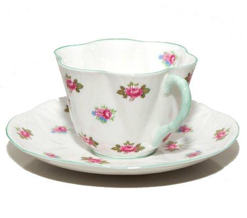 【送料無料】シェリー ローズバッド コーヒーカップ&ソーサー ディンティー No.13426 お花のような 可愛いカップ キュート 兼用カップ の写真No.4