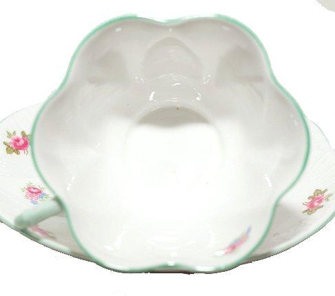 【送料無料】シェリー ローズバッド コーヒーカップ&ソーサー ディンティー No.13426 お花のような 可愛いカップ キュート 兼用カップ の写真No.5