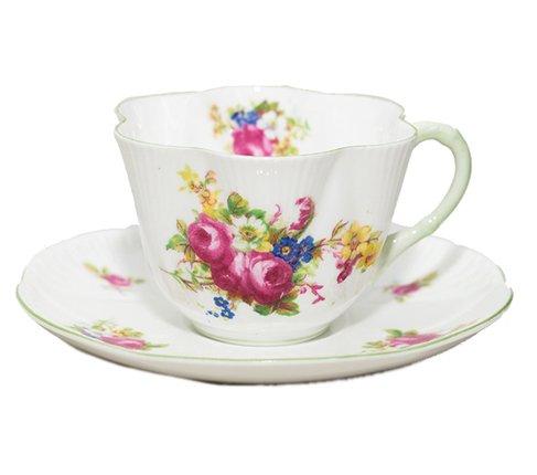 シェリー ローズブーケ コーヒーカップ&ソーサー ディンティー No.13248 の写真