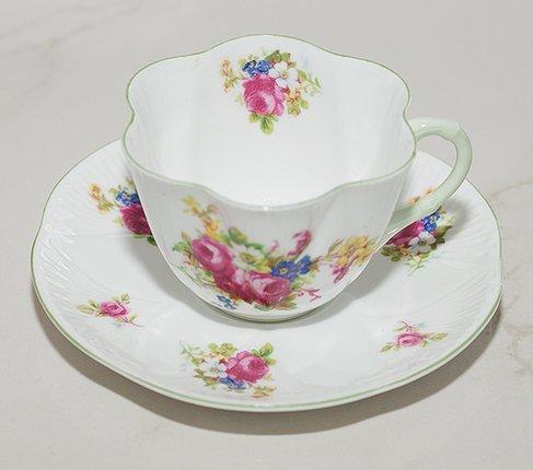 シェリー ローズブーケ コーヒーカップ&ソーサー ディンティー No.13248 の写真No.4