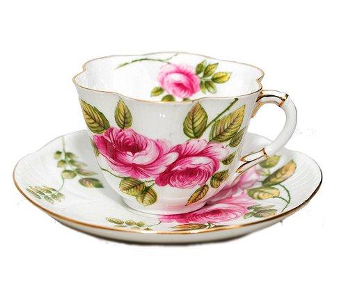 【送料無料】シェリー Rambler Rose コーヒーカップ&ソーサー ディンティー No.13428の写真