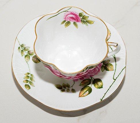 【送料無料】シェリー Rambler Rose コーヒーカップ&ソーサー ディンティー No.13428の写真No.2