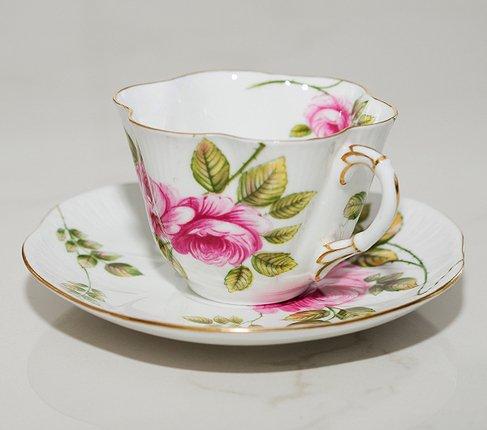 【送料無料】シェリー Rambler Rose コーヒーカップ&ソーサー ディンティー No.13428の写真No.3