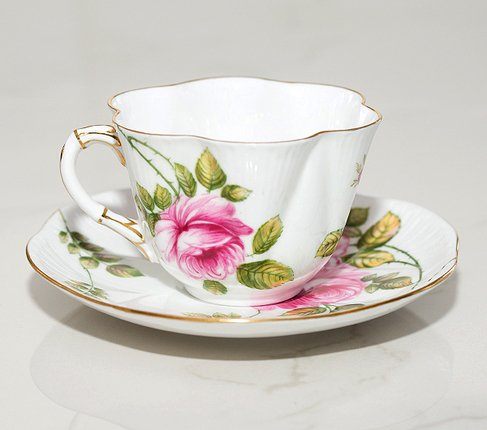 【送料無料】シェリー Rambler Rose コーヒーカップ&ソーサー ディンティー No.13428の写真No.4
