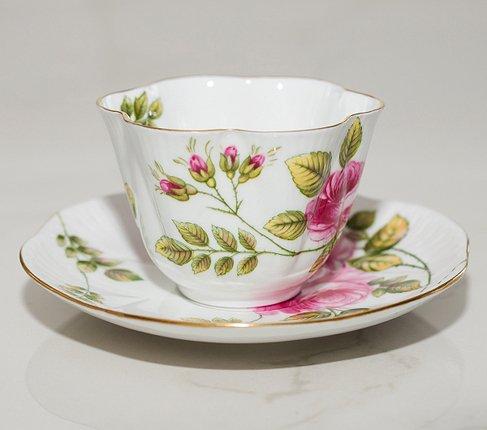 【送料無料】シェリー Rambler Rose コーヒーカップ&ソーサー ディンティー No.13428の写真No.5