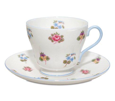 シェリー バラ・パンジー・勿忘草/Rose Pansy Forget-me-not コーヒーカップ&ソーサー   の写真