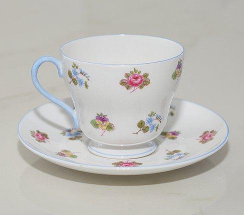 シェリー バラ・パンジー・勿忘草/Rose Pansy Forget-me-not コーヒーカップ&ソーサー   の写真No.2