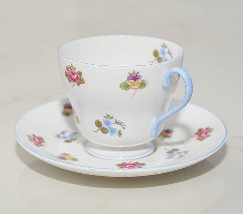 シェリー バラ・パンジー・勿忘草/Rose Pansy Forget-me-not コーヒーカップ&ソーサー   の写真No.3