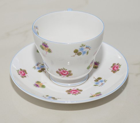 シェリー バラ・パンジー・勿忘草/Rose Pansy Forget-me-not コーヒーカップ&ソーサー   の写真No.4