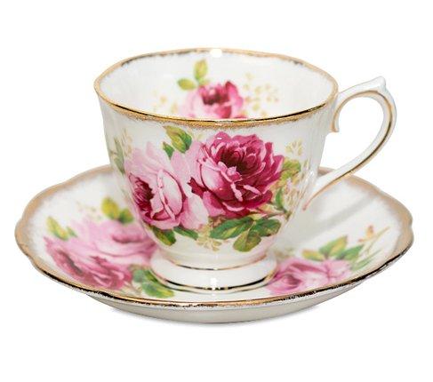 ロイヤルアルバート アメリカンビューティー コーヒーカップ&ソーサー Royal Albert   の写真