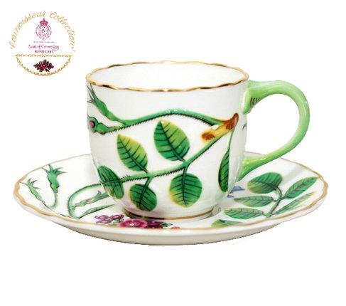 【送料無料】ロイヤルウースター Connoisseur Collectionブラインドアール(盲目の伯爵)デミタスコーヒーカップ&ソーサーの写真