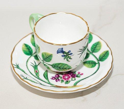 【送料無料】ロイヤルウースター Connoisseur Collectionブラインドアール(盲目の伯爵)デミタスコーヒーカップ&ソーサーの写真No.2