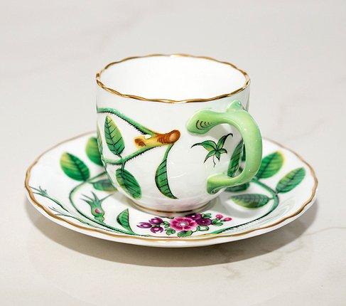 【送料無料】ロイヤルウースター Connoisseur Collectionブラインドアール(盲目の伯爵)デミタスコーヒーカップ&ソーサーの写真No.4