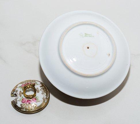 【送料無料】オールドノリタケ メイプル印 金彩点盛り ピンクローズ シュガーポット Old Noritake の写真No.8