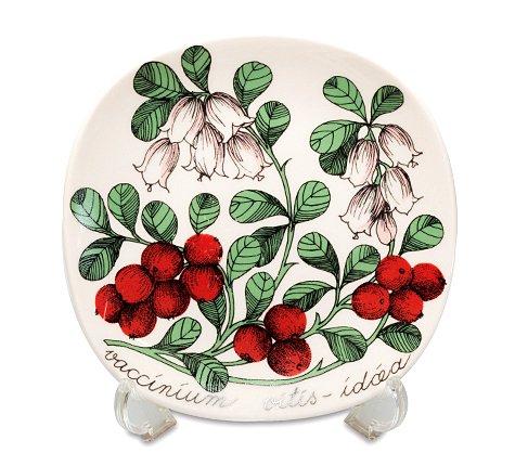 【送料無料】アラビア ボタニカ コケモモ/vaccinium vitis-idaea ウォールプレートの写真