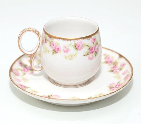 リモージュ エリートワークス Petit Pink Rosesデミタスカップ&ソーサー LIMOGES ELITE WORKS の写真No.2