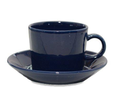 アラビア ティーマ ネイビー コーヒーカップ&ソーサー Teema 廃盤の写真