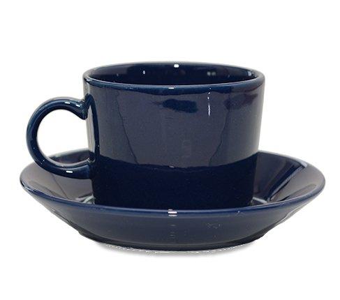 アラビア ティーマ ネイビー コーヒーカップ&ソーサー Teema 廃盤の写真No.2