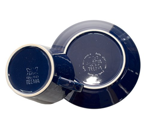 アラビア ティーマ ネイビー コーヒーカップ&ソーサー Teema 廃盤の写真No.4