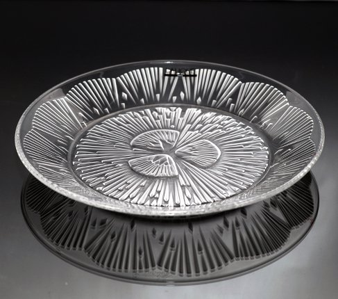 LALIQUE ラリック クリスタル プレート 21cm  ラリック 飾り皿 食器【送料無料】の写真No.2
