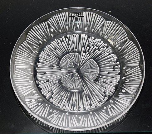 LALIQUE ラリック クリスタル プレート 21cm  ラリック 飾り皿 食器【送料無料】の写真No.3
