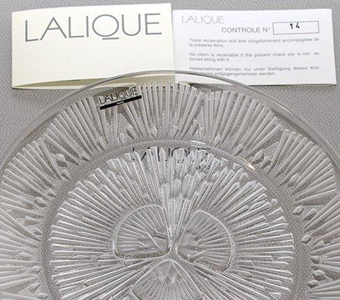 LALIQUE ラリック クリスタル プレート 21cm  ラリック 飾り皿 食器【送料無料】の写真No.4