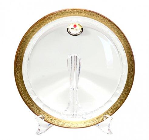Moser モーゼル ガラス プレート 21cm  チェコ ボヘミアグラス 飾り皿 ガラス製品 送料無料の写真