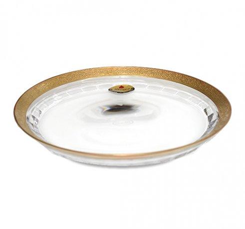 Moser モーゼル ガラス プレート 21cm  チェコ ボヘミアグラス 飾り皿 ガラス製品 送料無料の写真No.2