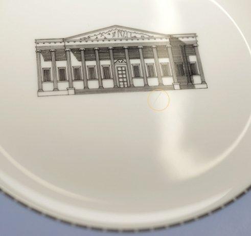ウェッジウッド グランドツアーコレクション ロンドン大英博物館サラダプレート21cm WEDGWODD 廃盤の写真No.4