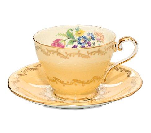 エインズレイ フラワーブーケ イエロー コーヒーカップ&ソーサー Aynsley の写真