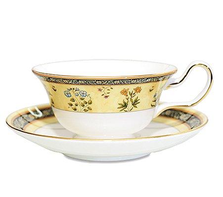 WEDGWODD ウェッジウッド インディア カップ&ソーサー ピオニー 紅茶入れ   ウエッジウッド 廃盤 ブランド食器 紅茶カップ アンティークカップ usedの写真