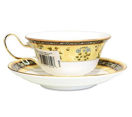 WEDGWODD ウェッジウッド インディア カップ&ソーサー ピオニー 紅茶入れ   ウエッジウッド 廃盤 ブランド食器 紅茶カップ アンティークカップ usedの写真No.2