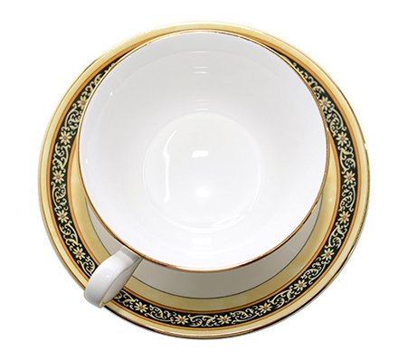 WEDGWODD ウェッジウッド インディア カップ&ソーサー ピオニー 紅茶入れ   ウエッジウッド 廃盤 ブランド食器 紅茶カップ アンティークカップ usedの写真No.4